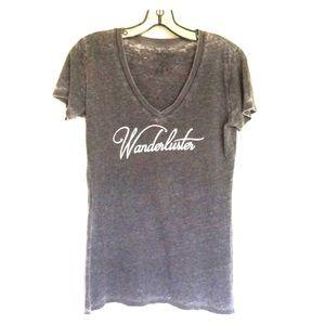 Tops - Wanderluster v neck T Shirt